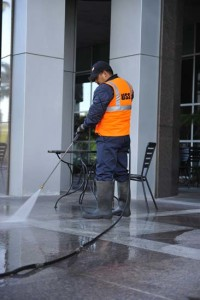 Power washing as part of Day Porter Service in Rancho Cordova