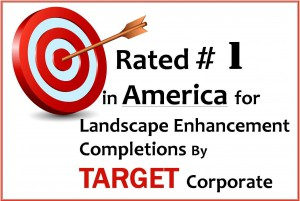 Rated #1 in america for landscape enhancement completions by Target corporate