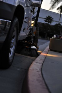 LA parking lot sweeping service by Universal Site Services.