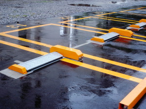 Parking Lot with Standing Water