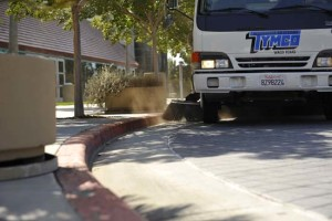 Parking Lot Sweeping Maintaining a clean property by Universal Site Services