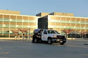 Parking lot sweeping Service Truck in Rancho Cordova