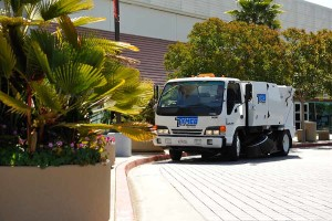 Universal Site Services Street Sweeper in Phoenix