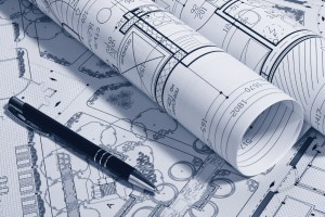 landscaping design blueprints for a business park in Milpitas