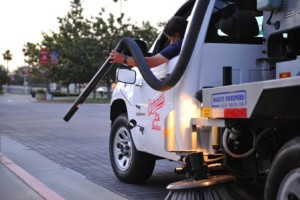 Parking lot sweeping services by Universal Site Services