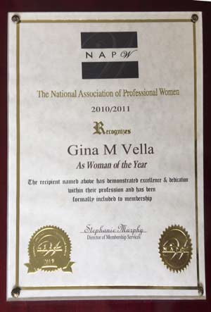 Professional Women 2010 Award
