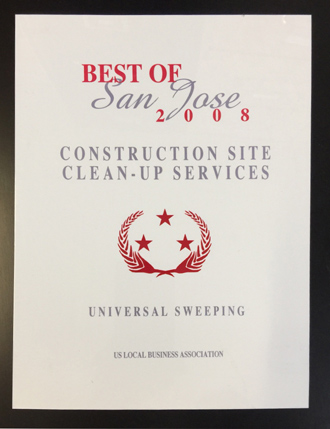 Best of San Jose Construction Site Clean-Up Services 2008 Award
