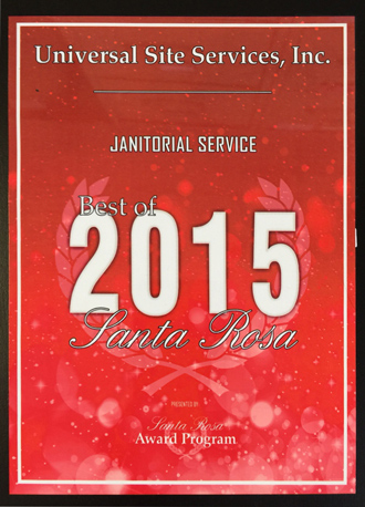 Best of Santa Rose Janitorial Services 2015 Award