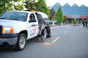 Elk Grove parking lot sweeping service by Universal Site Services.