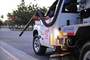 Reseda parking lot sweeper truck